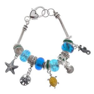 Assorted Bead Charm Bracelet NWT